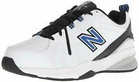 New Balance Mens MX608 Low Top Lace Up, White/Team Royal/Black, Size 10.0 N6qZ