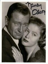 Nancy Olson, Boulevard de l'aube, Big Jim McLain original signé/signed!!!