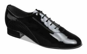 "Supadance 5200 1"" Heel Men's Black Patent Leather Ballroom Dance Shoes(sz8 -12)"