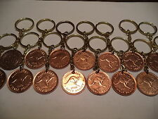 16 xAustralian  Half Penny Key Rings 16 x  Different Dates       Stock Clearance
