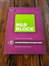 2016 H&R Block Deluxe Homeowners/Investors Federal and State Brand NEW Sealed!