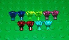 *NEW* Lego Dark Blue Yellow Pink Red Gems Rare Jewels Diamonds Minifig 10 pieces
