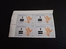 LESOTHO 1977 SG 342 SURCH BLOCK OF FOUR  MNH