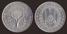 DJIBOUTI GIBUTI 5 FRANCS 1991 FDC/UNC FIOR DI CONIO