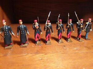 CBG Mignot 8 figures WW1 1914 French Infantry Parade Toy Soldiers