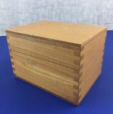 Vintage Wooden Dovetailed Oak Box Recipe / Library Card File PSI Napa CA