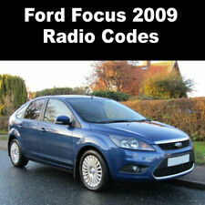 Ford Focus 2009 Radio Code Stereo Reset Codes PIN Car Unlock Service UK