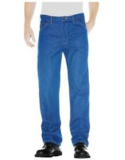 DICKIES DARK BLUE WORK JEANS MEN'S SIZE 44x30 RELAXED FIT 13293RNB