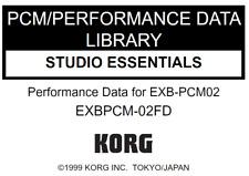 KORG EXB-PCM02 Studio Essentials Factory Preload Disk Triton EXB PCM-02FD