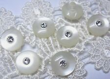 20 Sparkling Crystal Plastic Round Buttons #P397