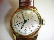 LONGINES 1943 14K SOLID YELLOW GOLD VINTAGE COMMANDER  SCREW BACK STRAP WATCH