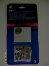 At&T Brand Single Outlet Phone Jack Ul Listed - New!