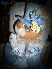 Primitive Folk Art Easter Bunny Rabbit doll Henrietta Hare Pattern #141