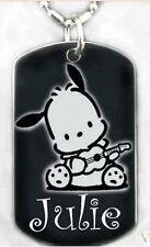 SANRIO POCHACCO - Dog tag Necklace/Key chain +FREE ENGRAVING