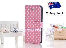Polka Dot Magnet Flip Case For the iPhone 5 (Pink)