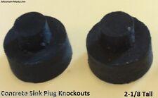 2 Countersunk Concrete Cement Countertop Sink Faucet Knockout Plugs Pre Cast