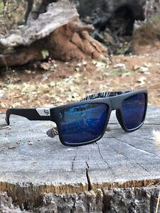 NEW Fox Racing USA Sunglasses Mens Womens Shades UV400 BLACK BLUE FREE SHIPPING