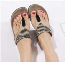 New Rhinestone Womens Flip Flop Sandals Summer Ladies Sandals Slippers Fit Flop