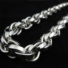 Jewelry Silver 8mm Rope Chain Necklace Fashion 316L Stainless Steel Heavy Men's