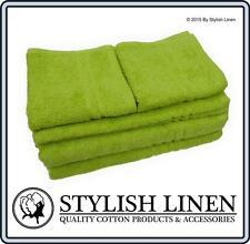 Bath Towels Hand Towels Face Washers 6 Piece Set Sets100% Cotton New 550GSM Lime