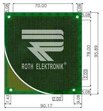 RE130-LF Laborkarte Platine Metriclab FR4 2,00mm 90,17x95,89mm Roth Elektronik