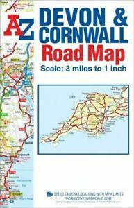 Devon & Cornwall Road Map (A-Z Road Map), Geographers A-Z Map Co Ltd, New, Paper