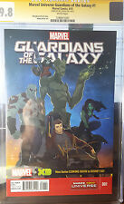 Marvel Universe Guardians of the Galaxy #1 CGC 9.8 SS Will Friedle aka Starlord