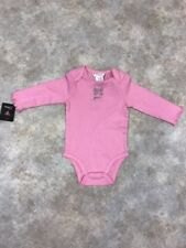 NWT GUESS Baby Girls Pink Embellished 100% Cotton One-Piece Sz 6-9 M