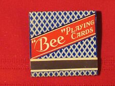 *** Bee Playing Cards Matchbook - (Red on Blue) Full & un-struck!