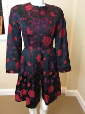 Vintage Christian Lacroix Print Silk Brocade Couture Italy Size 38 US 4