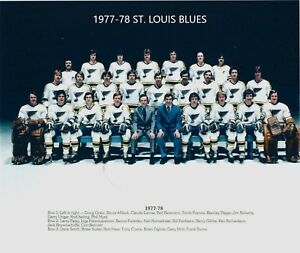 1977-78 ST. LOUIS BLUES TEAM 8X10 PHOTO HOCKEY PICTURE NHL