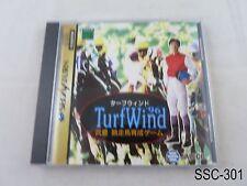 TurfWind 96 Sega Saturn Japanese Import SS Japan JP Turf Wind US Seller C/Fair
