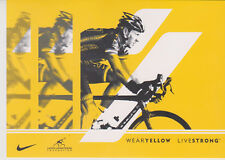 Postcard Original Lance Armstrong LiveStrong One -WearYellow MINT !