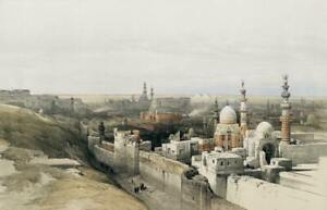 Pro Satin A3 Art Print, Looking west in Cairo, Egypt, by David Roberts