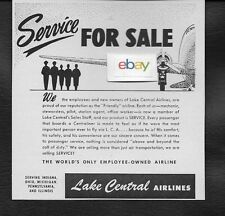 LAKE CENTRAL AIRLINES 1955 SERVICE FOR SALE REPUTATION FRIENDLY AIRLINE DC-3 AD