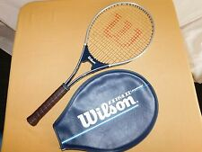 WILSON EXTRA II LARGEHEAD LEATHER GRIP & COVER TENNIS RACQUET