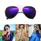 Unisex Vintage Retro Women Men Glasses Aviator Mirror Lens Sunglasses Purple