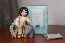 Thun, Tini's, bimbo con elefante. Giallo, altezza 11 cm.