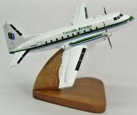 Hawker Siddeley HS 748 Cascade Airways Airplane Desktop Kiln Wood Model Large