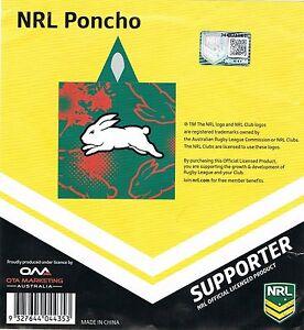 NRL Rabbitohs Wet Weather Poncho Rain Coat