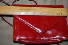 Vintage Bottega Veneta Dark Red Leather Handbag Small ENVELOPE FLAP xl strap
