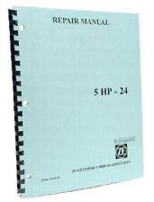 ZF5HP24 BMW Jaguar Land Rover RWD OEM ZF Repair Manual Guide Book 5HP24 5 HP-24
