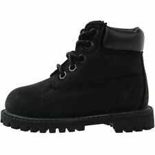 """Timberland 6"""" Premium Toddler 12807 Black Nubuck Infant Boots Shoes Baby Size 12"""