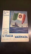 L'ITALIA MARINARA - MAGGIO 1935 - SILURANTI, DIAZ, FISICA