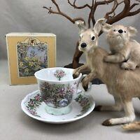 Royal Doulton Brambly Hedge SUMMER Beaker & Saucer Mug Teacup Vintage Barklem