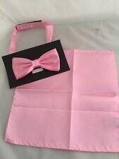Poliéster Bebé Rosa Para Hombre Pajarita y pañuelo conjunto >> disponible en más de 60 Colores