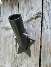New listing Black Wrought Iron Metal Art Flag Pole Holder