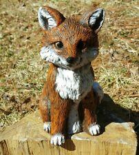 Latex  and fiberglass backer  baby fox concrete casting garden mold  ready2ship
