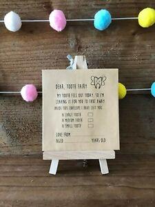 x10 Children's, Kids Tooth Fairy Envelopes, Keepsake, tooth under pillow, unisex