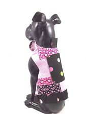 Dog Pet Cat Clothes Harness SZ XS 3 to 5 LBS  NEW Handmade Girl Pink Black Print